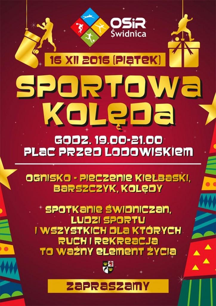 Plakat Sportowa Kolęda 2016
