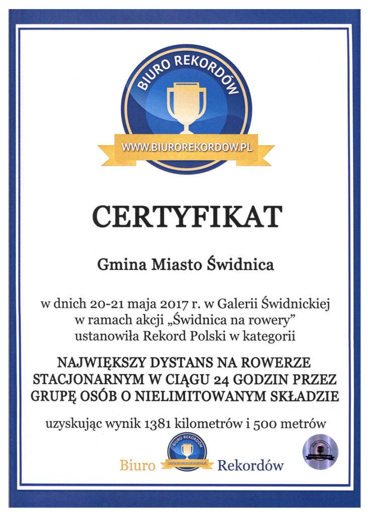 certyfikat rekordowy aktywni 24