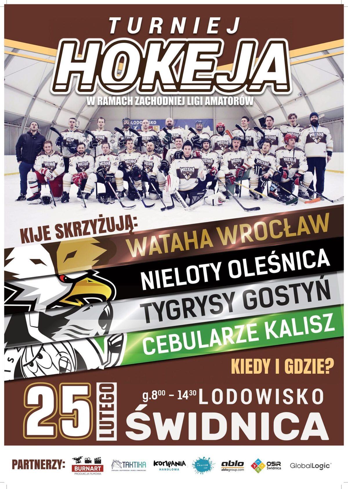 plakat turniej hokeja