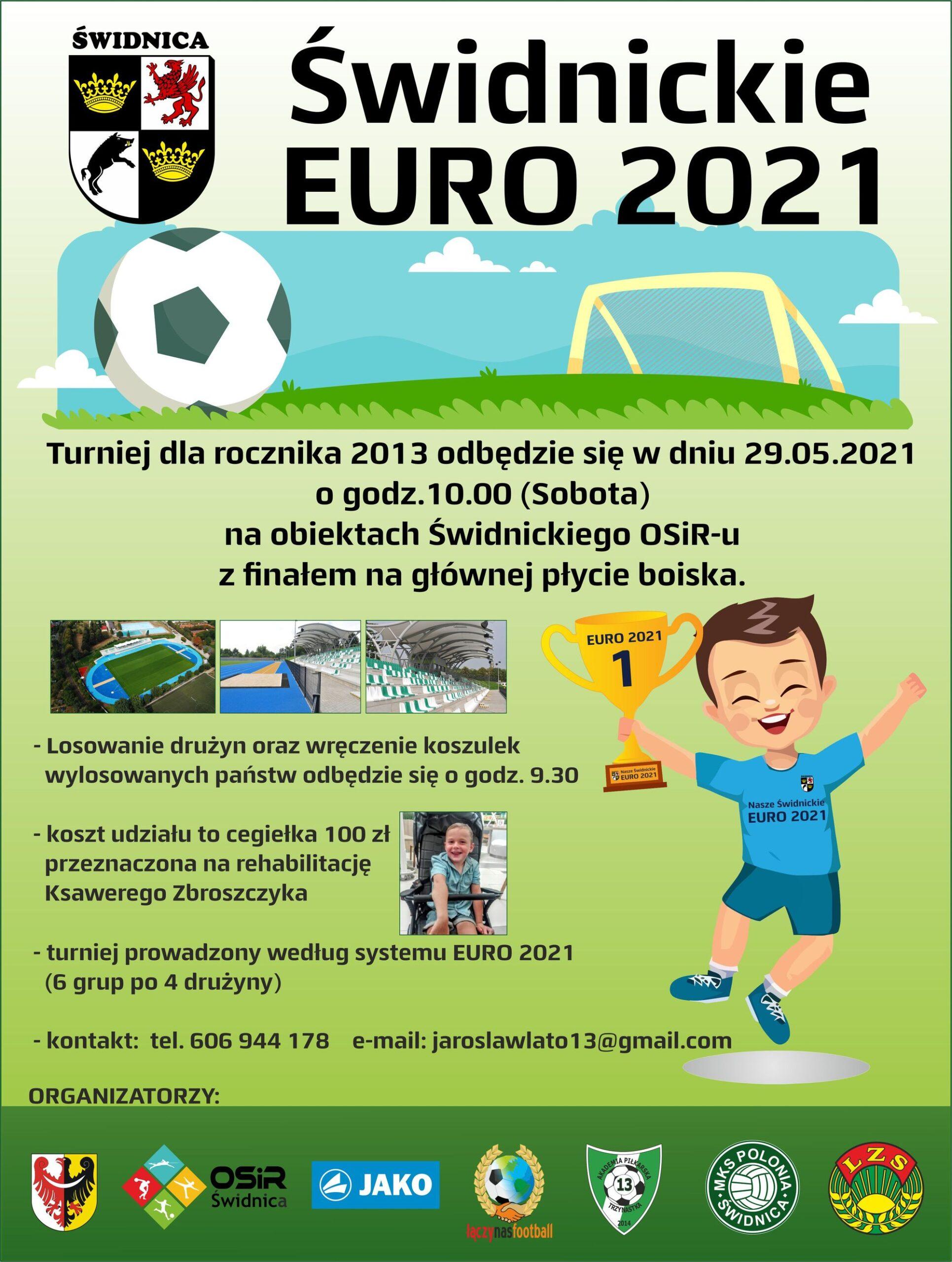 plakat turniej świdnickie euro 2021